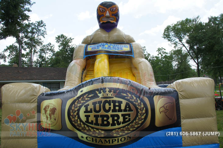 lucha libre water slide