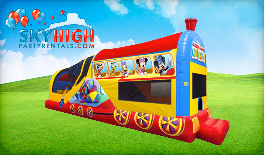 Mickey Train Jump House Rental