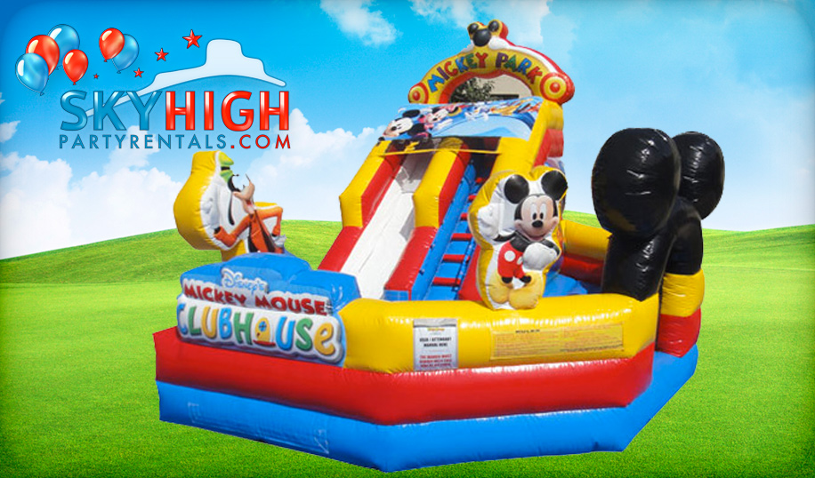 Mickey Mouse Clubhouse inflatable toddler slide