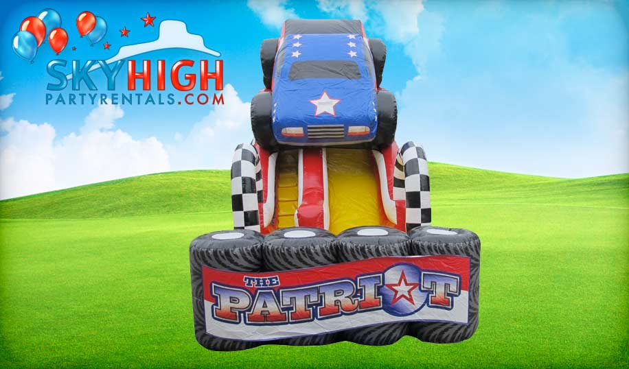 Monster Truck Inflatable Slide Rental