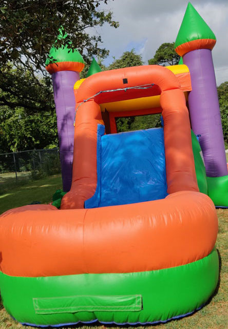 Big 3in1 Multi color combo bouncer with slide