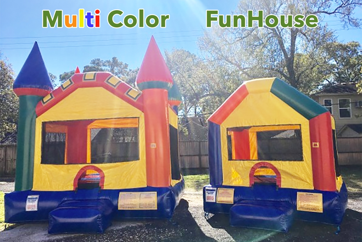 Multi Color Castle Vs. Funhouse