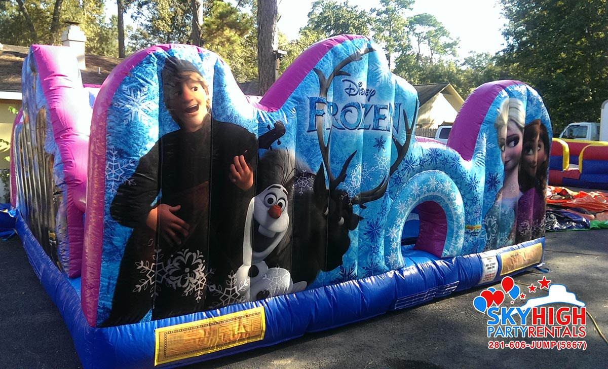 Front Side View Frozen Toddler Obstacle