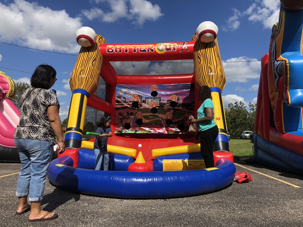 Batters Up Carnival Game For Rent at Church Bazaar