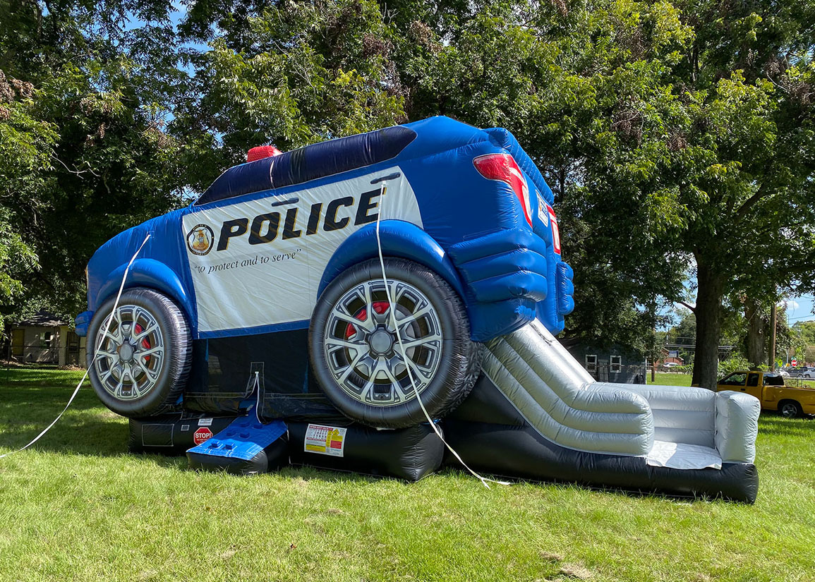 Police-themed inflatable