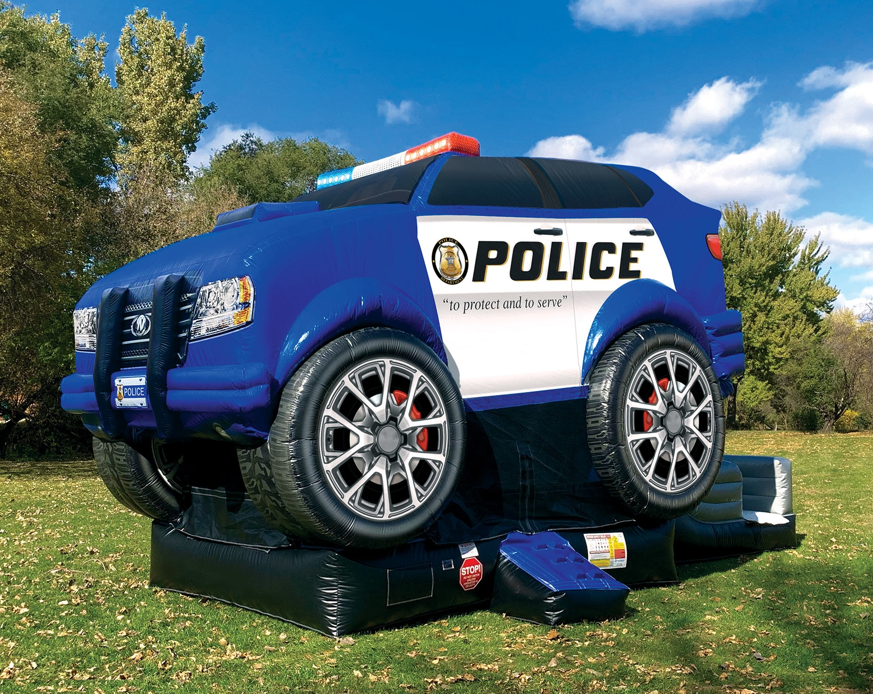 Police Inflatable Bounce House with Slide