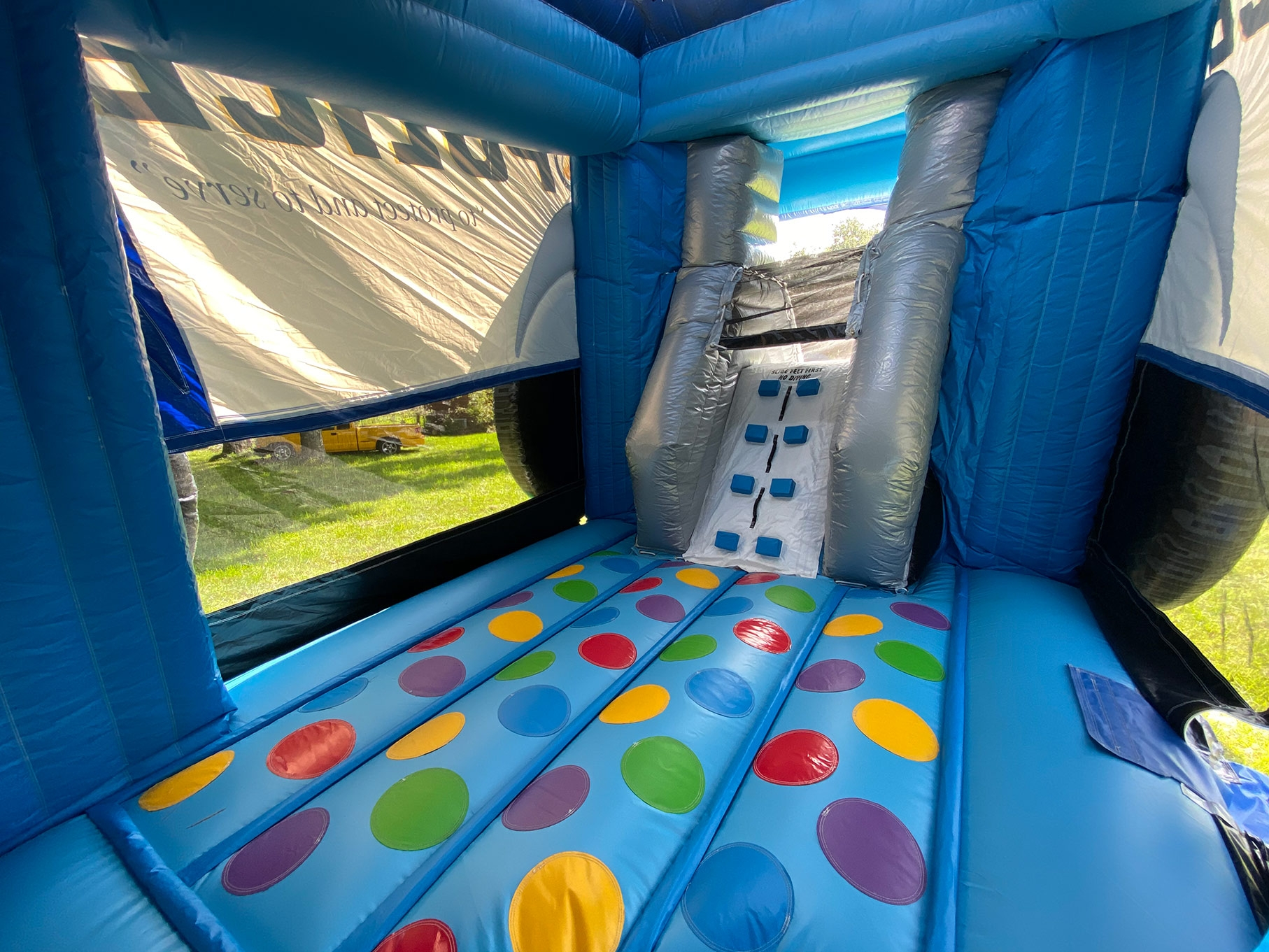 Inside Police Car Bounce House
