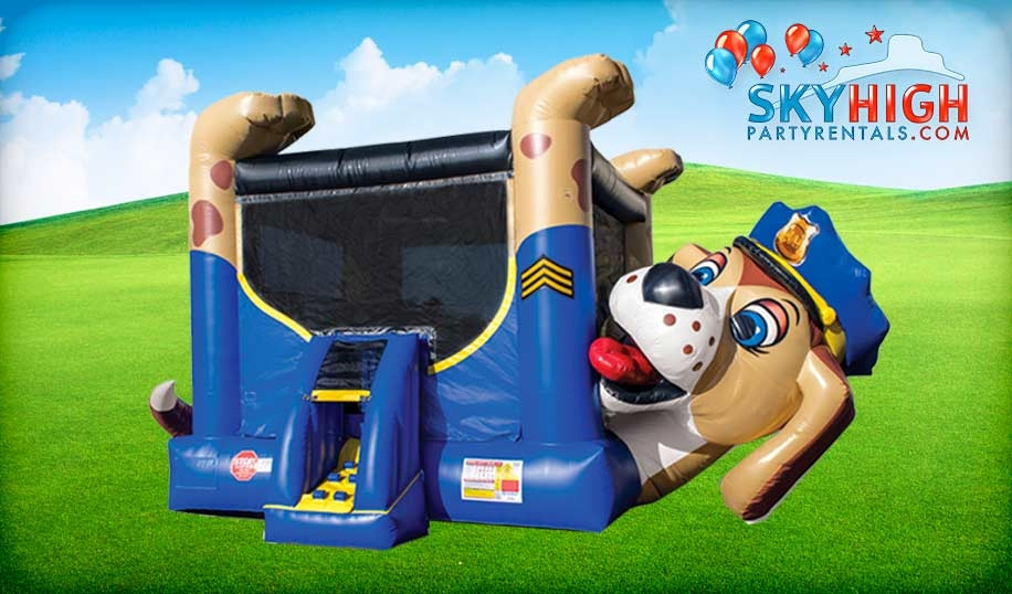 Police Dog Bounce House Rental