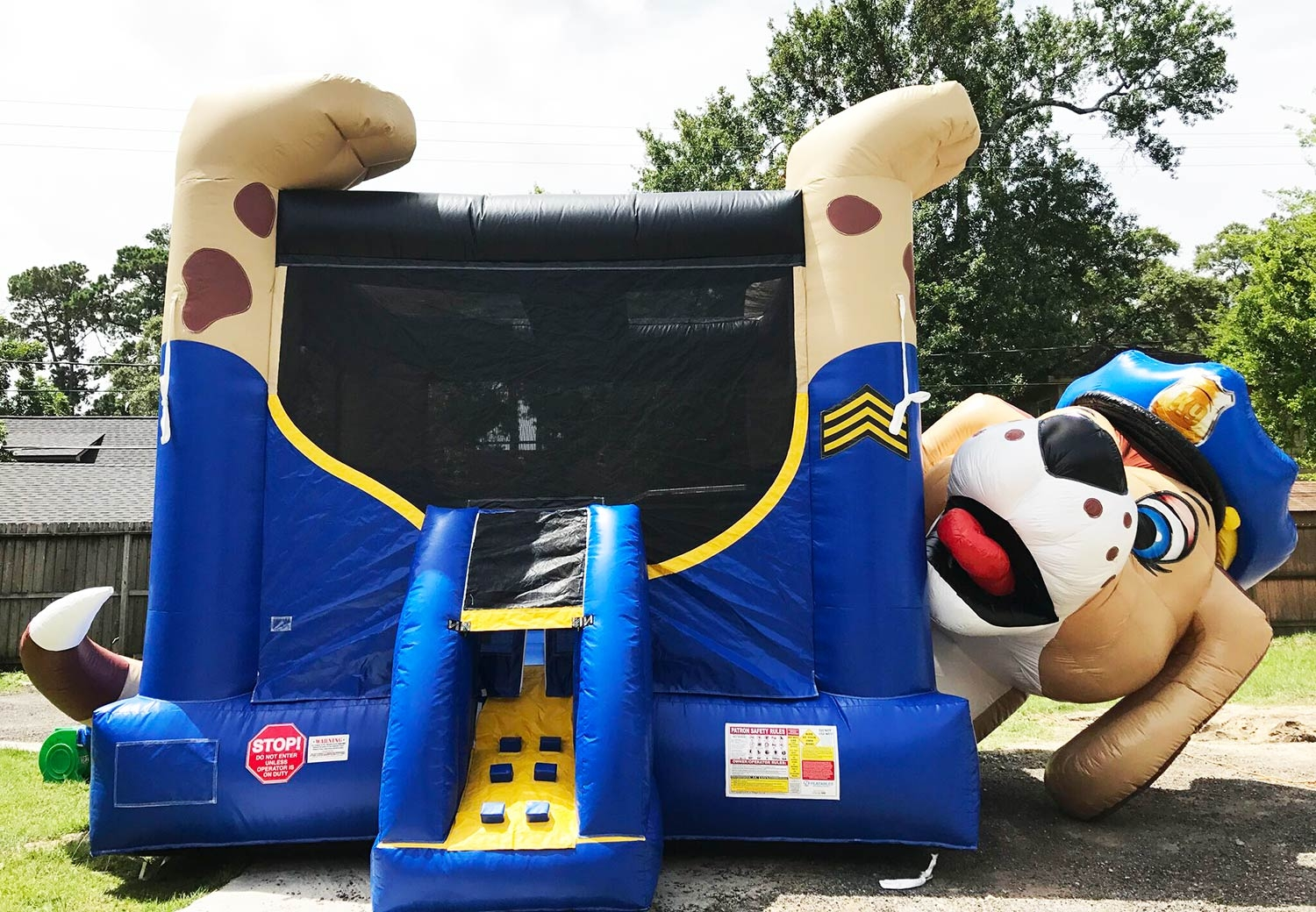 Police Bounce House Paw Patrol