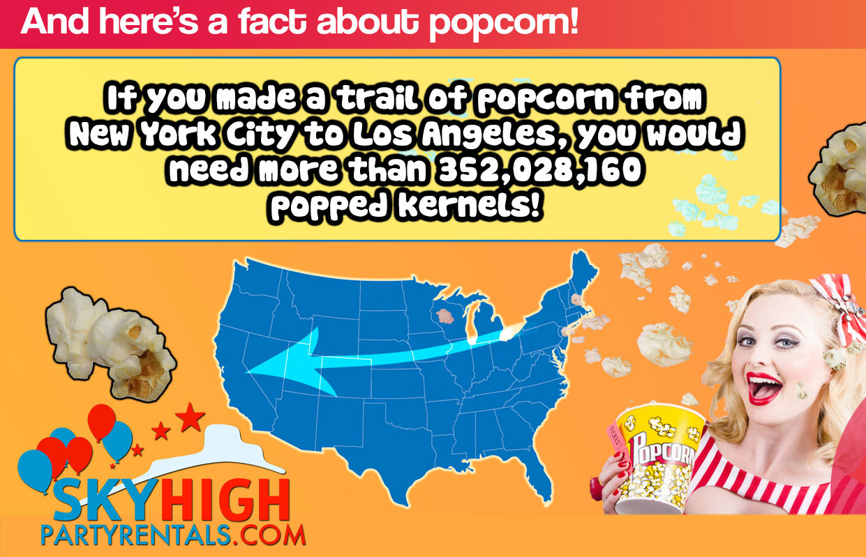 popcorn machine USA facts