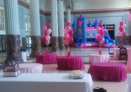 Princess Bouncy Castle in Houston Ballroom