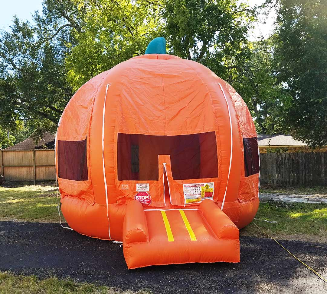 Pumpkin bounce houses