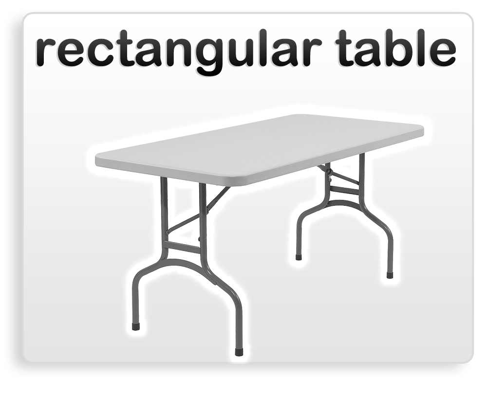 rectangular table rental