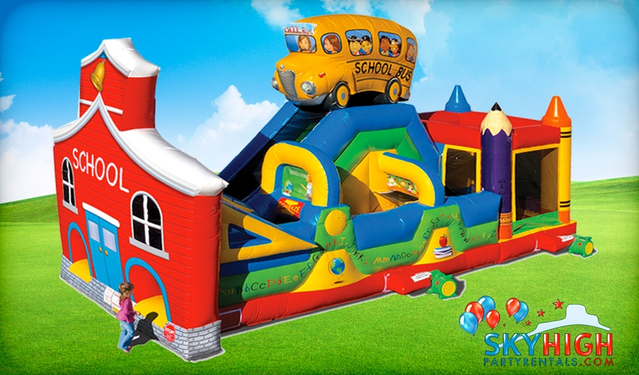 School Bus Bouncy Castle for Hire