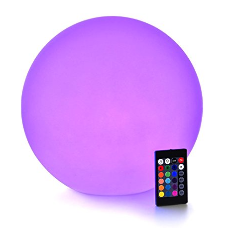"9"" LED illuminated orbs - waterproof"