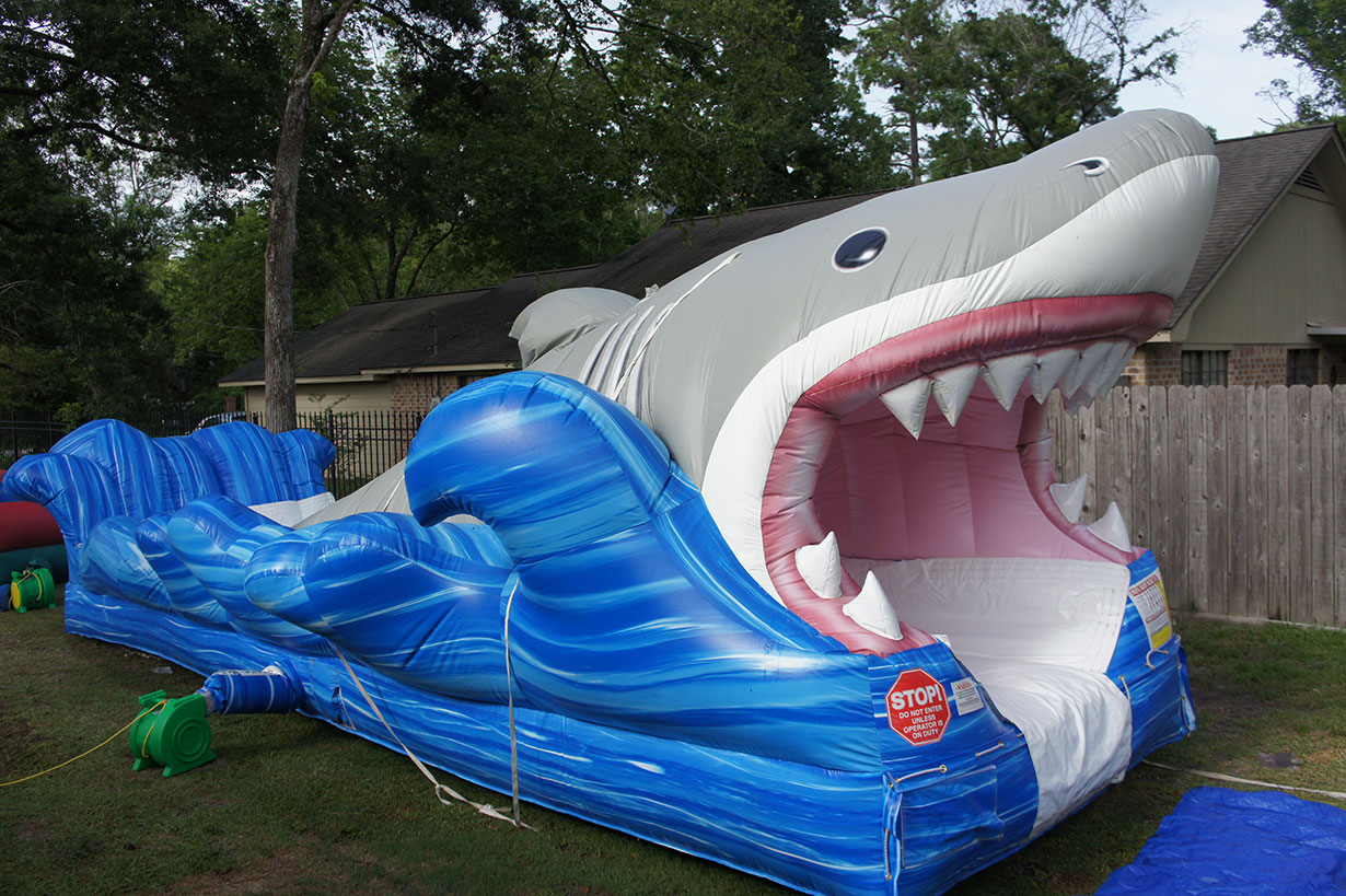 shark slip and slide houston sky high party rentals