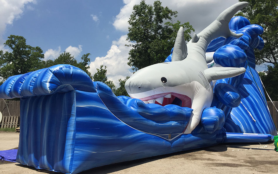 Shark Blue Water Slide Rental