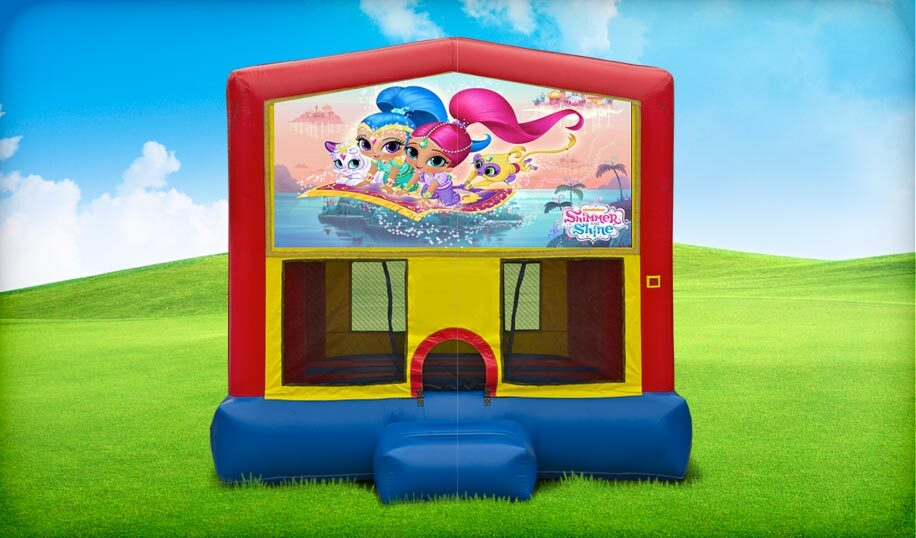 13x13 Shimmer and Shine moonwalk rental