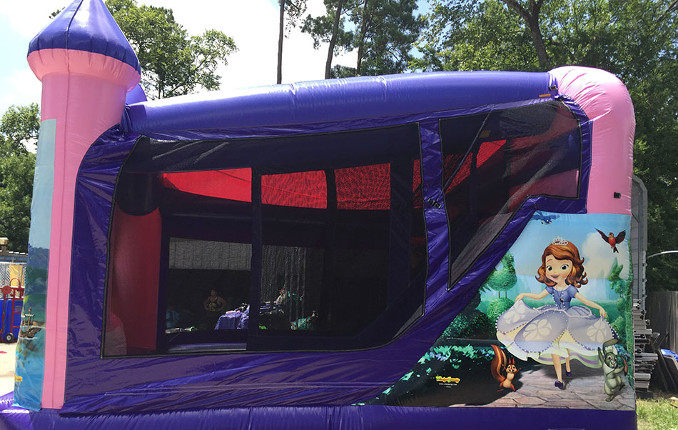 Sophia the first bounce house combo side