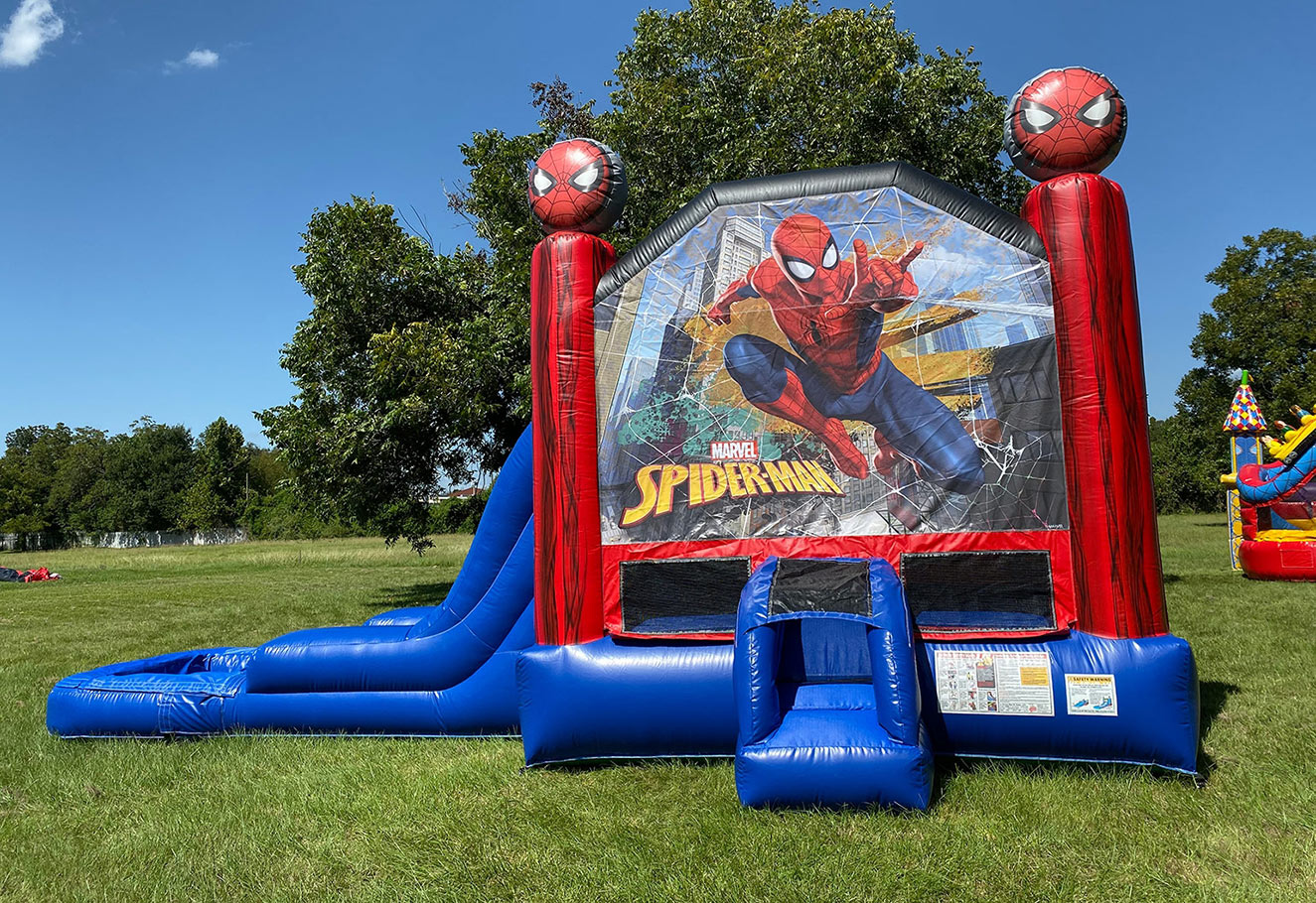 Spider-Man Bouncy Castle Slide