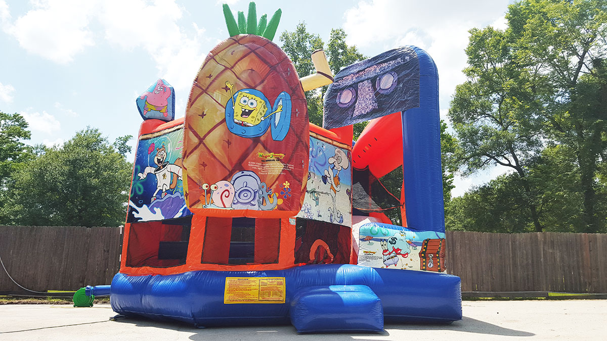 5in1 spongebob bounce house sky high party rentals