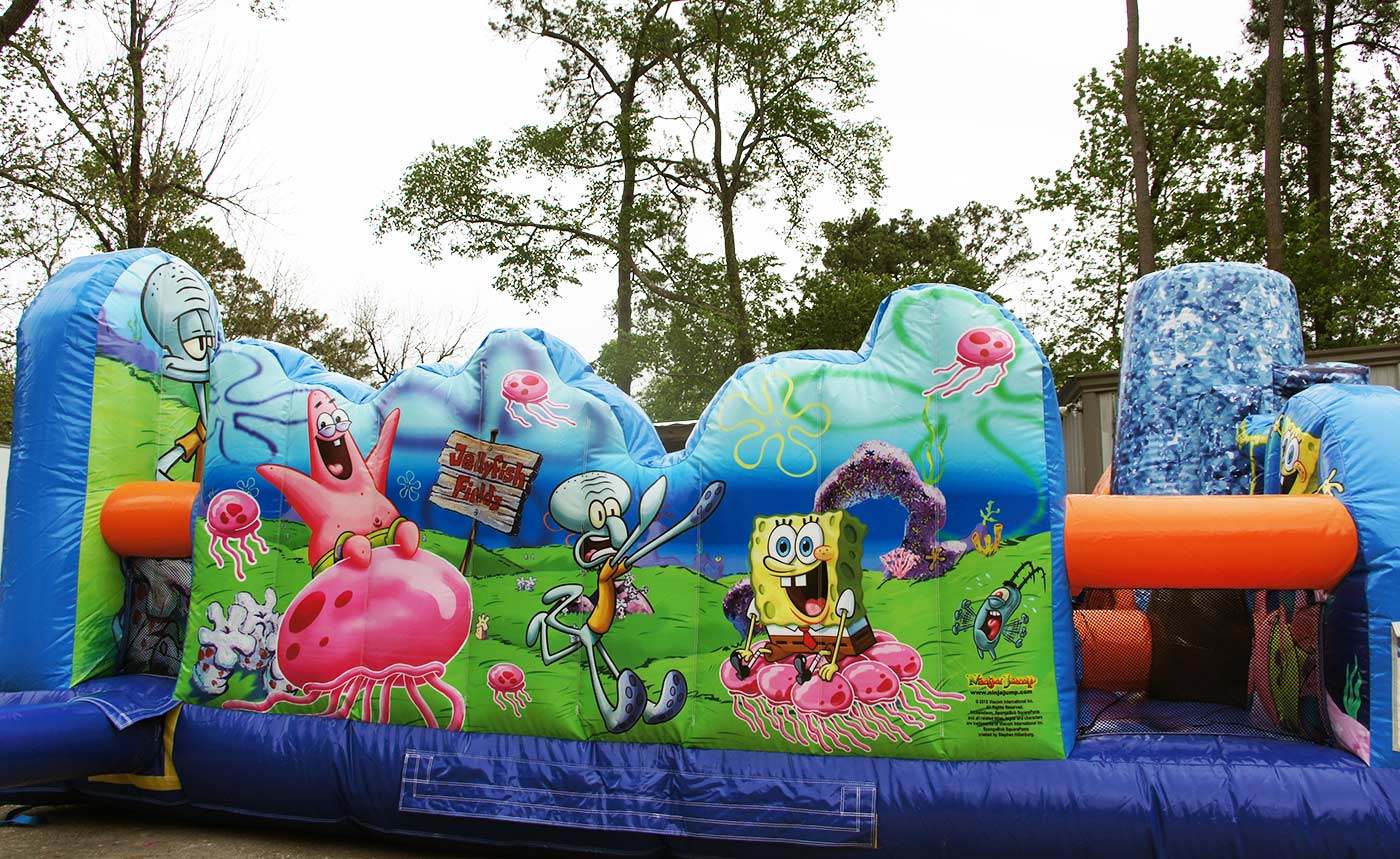 Left Side of Inflatable Spongebob
