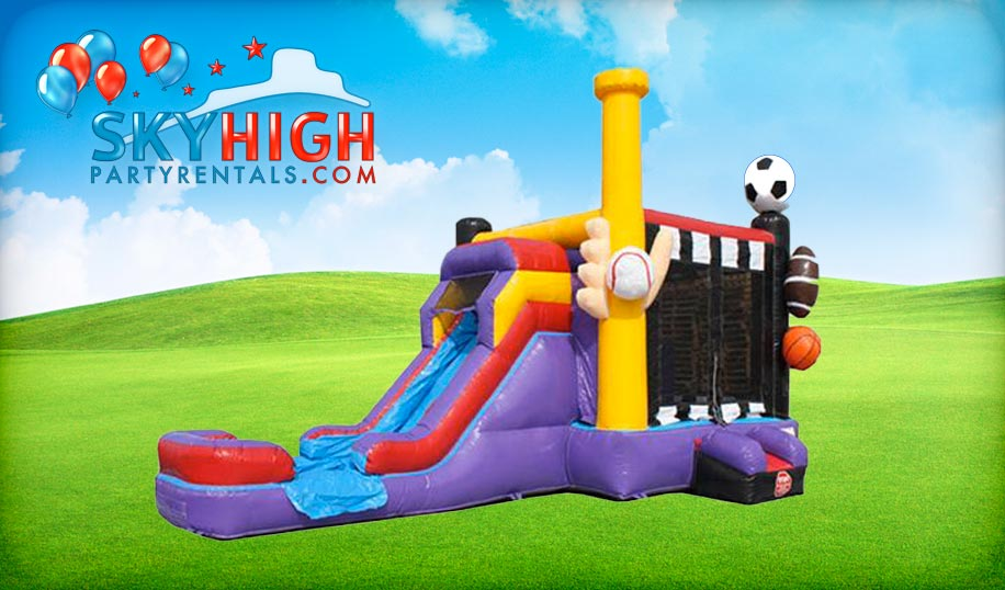 Sports Bounce House Combo Rental