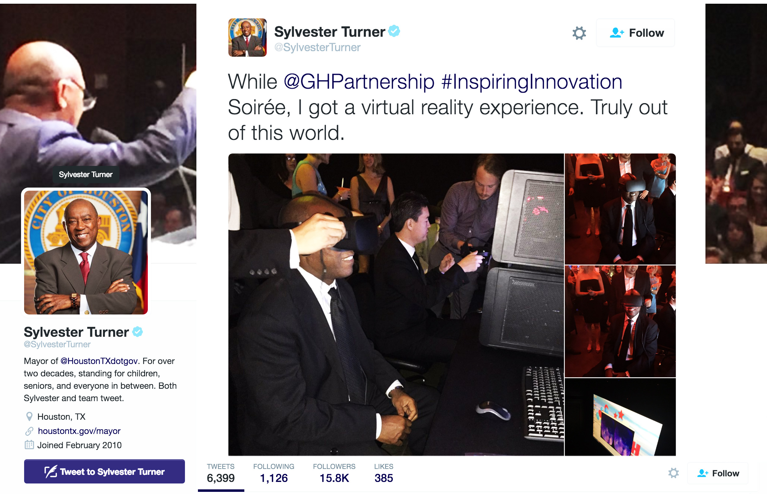 Virtual Reality Mayor Houston Sylvestor Turner