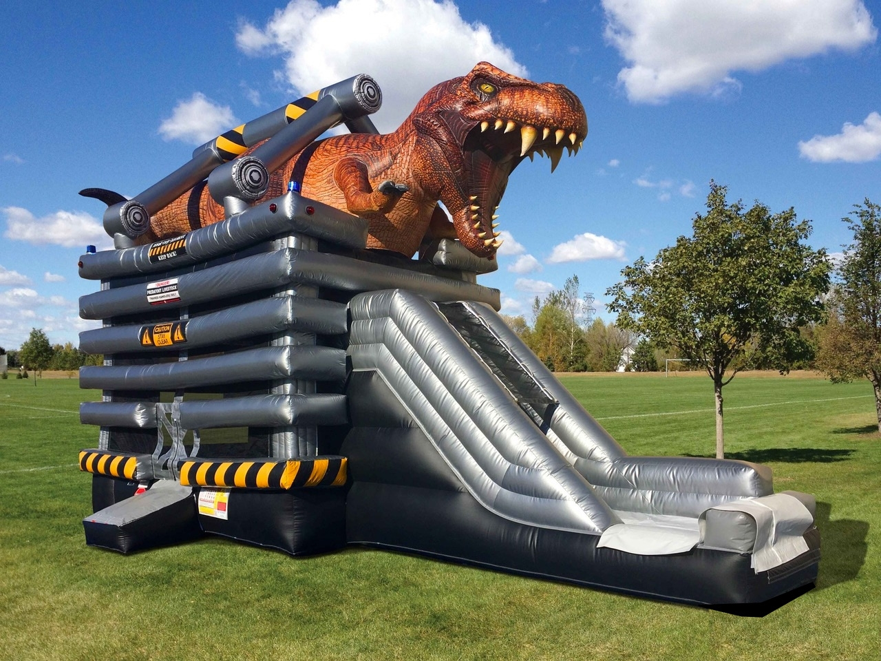 Dinosaur Bounce House T-Rex Slide