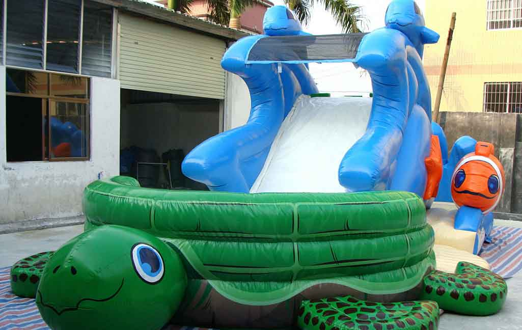 Front View of Water Slide