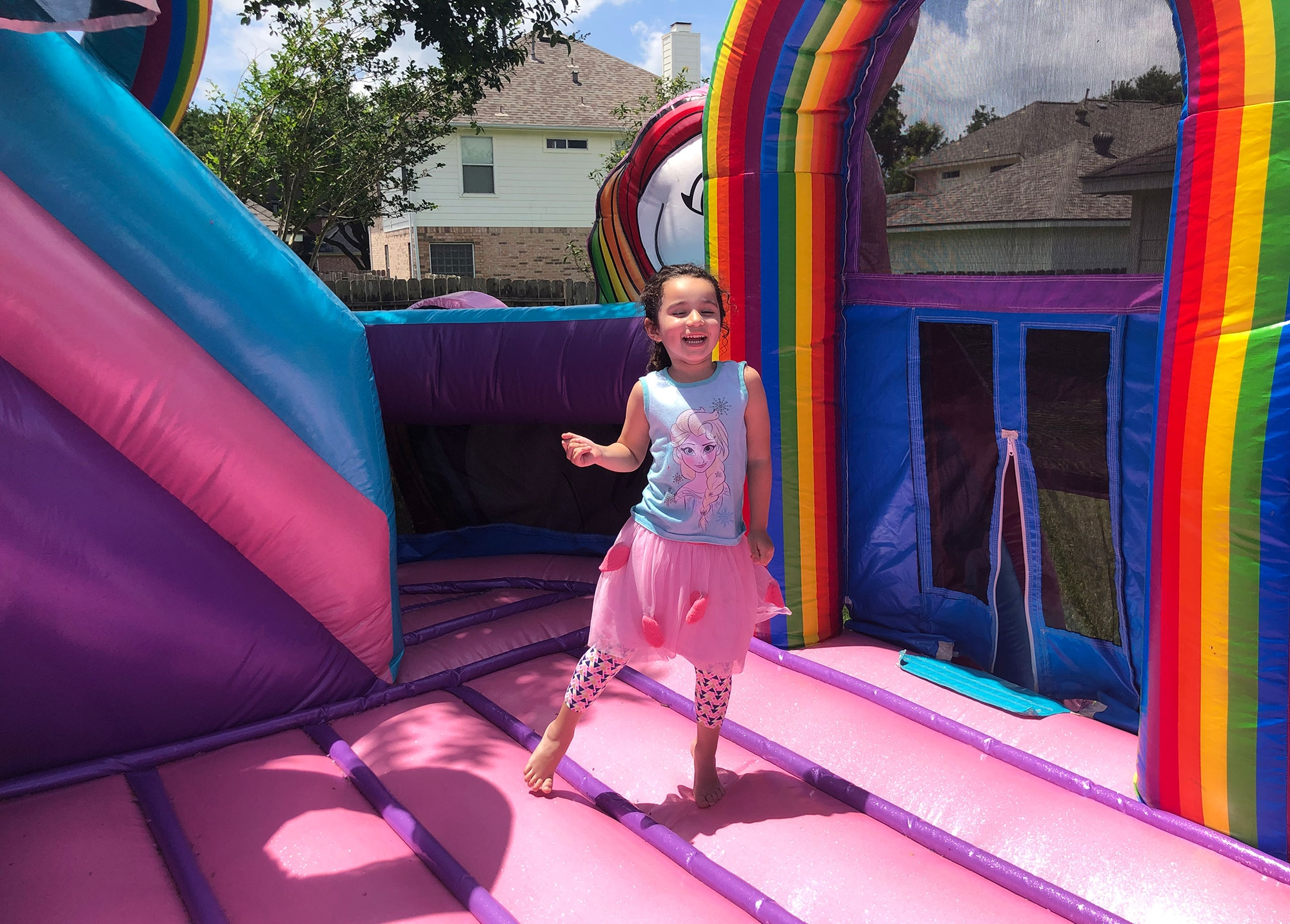Rainbow Unicorn Bounce House Rentals