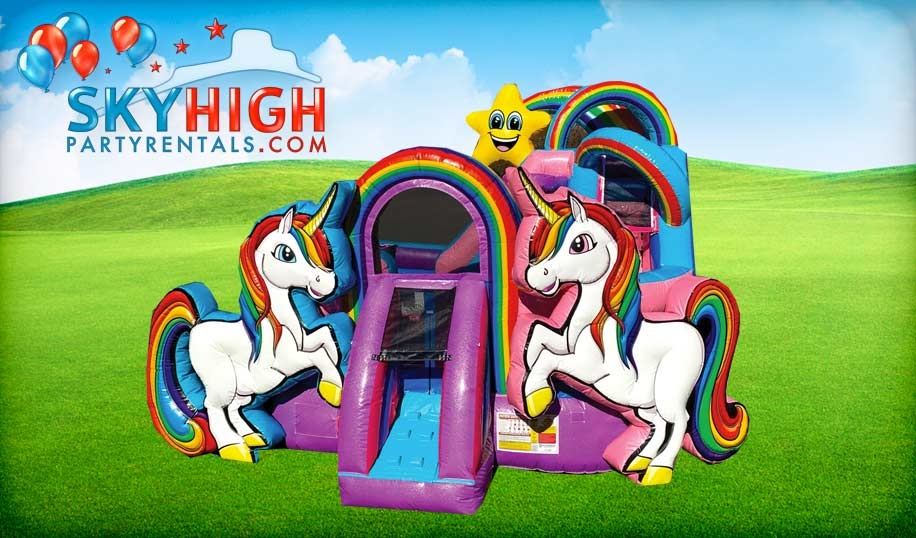 Big Unicorn Bounce House Inflatable
