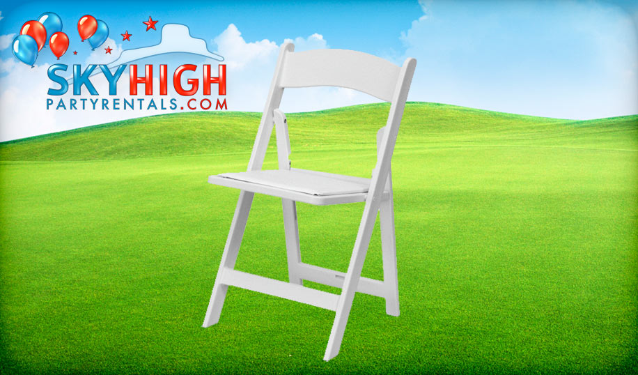 White Resin Folding Chairs For Rent Houston