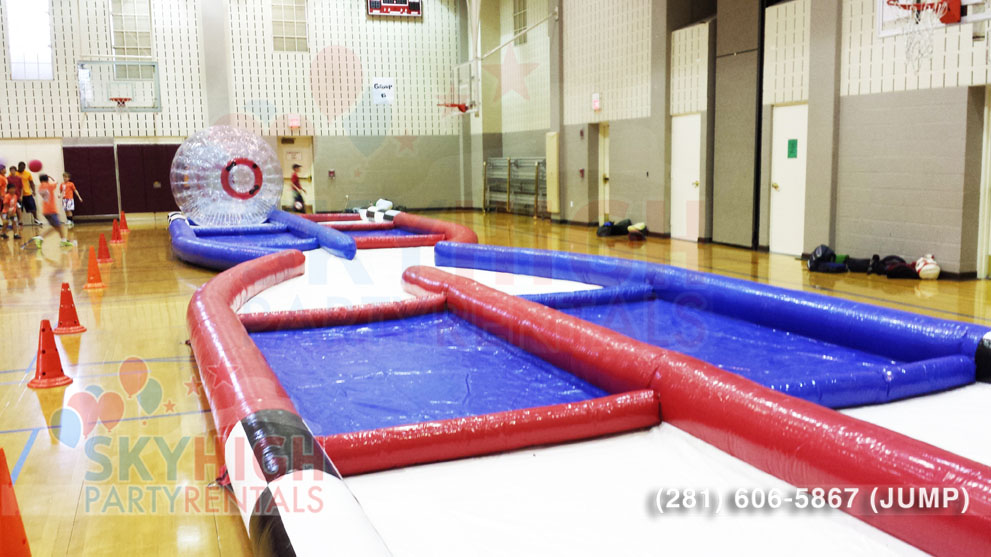 Zorb Game Hamster Ball Course