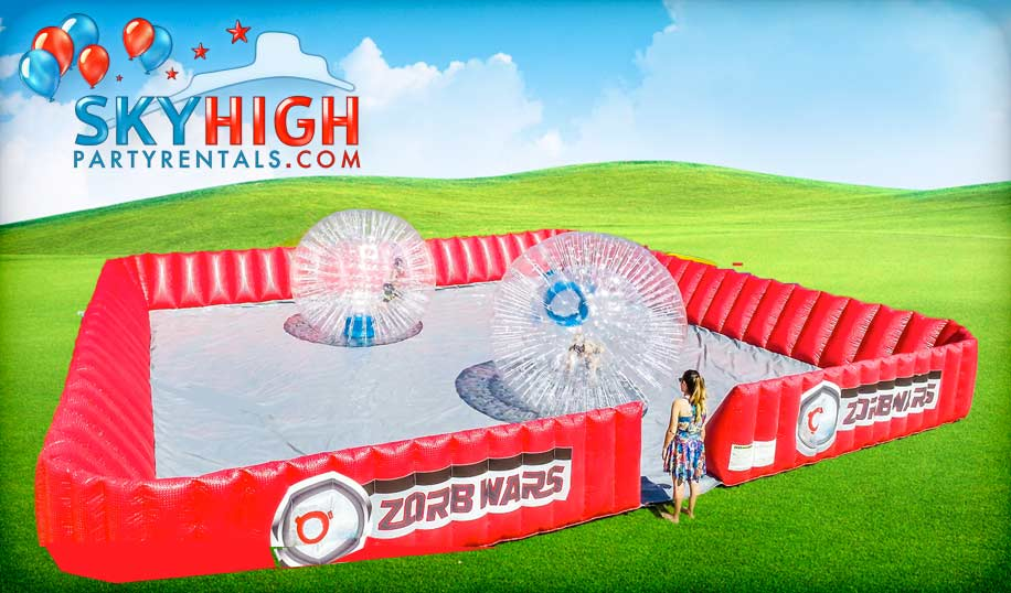 Human Hamster Zorbs War Game
