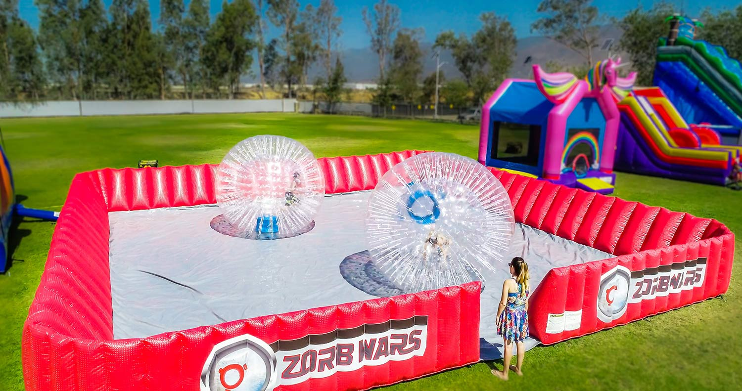 Zorbs War Game Rental