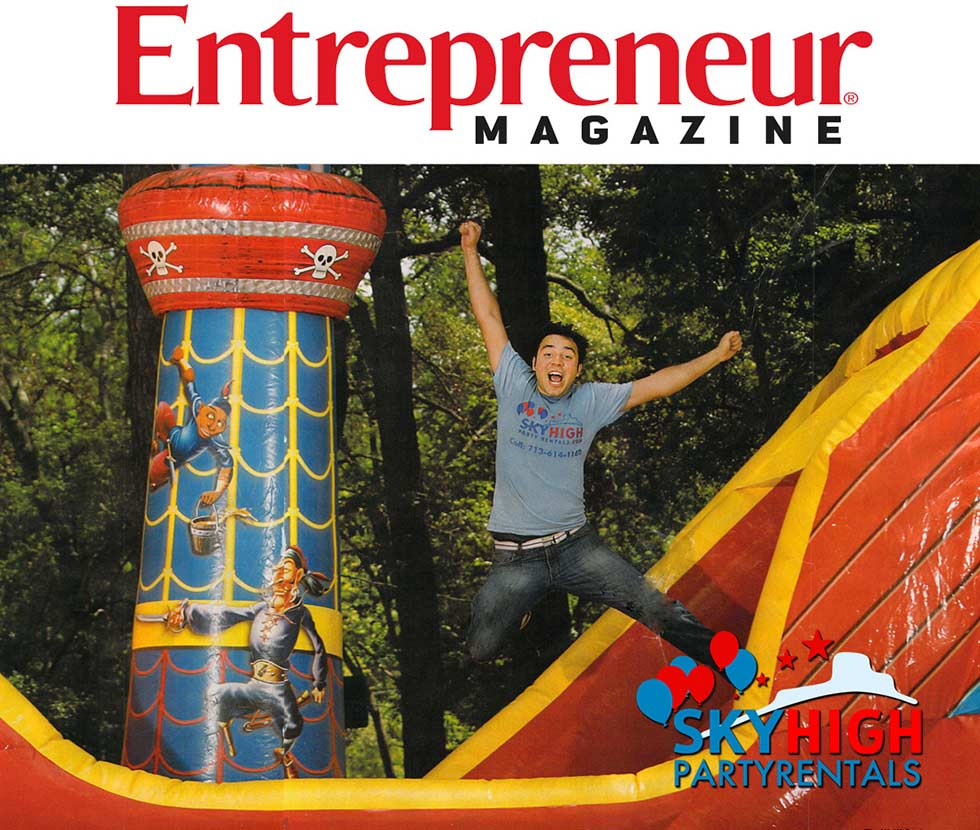 Entrepreneur Magazine Sky High Party Rentals